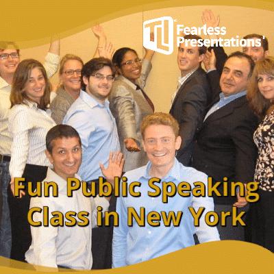 Fun Public Speaking Class New York, NY