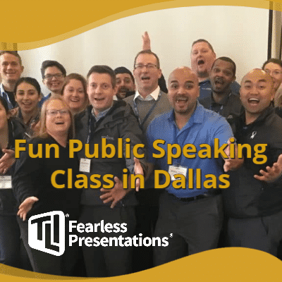Fun Public Speaking Class Dallas TX