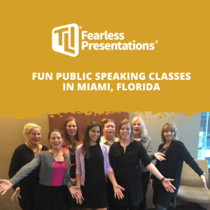 Fun Public Speaking Classes in Miami, Florida