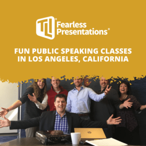 fun public speaking classes in Los Angeles California