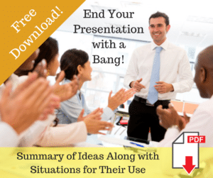 End Presentations with a Bang