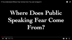 Where Does Public Speaking Fear Come From?