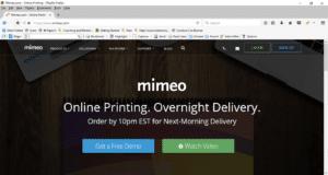 Mimeo Screenshot