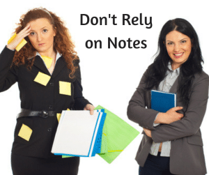 Don't Rely on Notes
