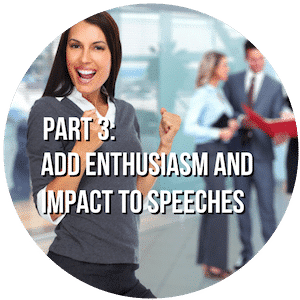 Part 3 Add Enthusiasm and Impact to Speeches