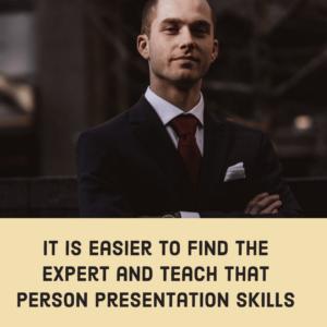 Teach the expert
