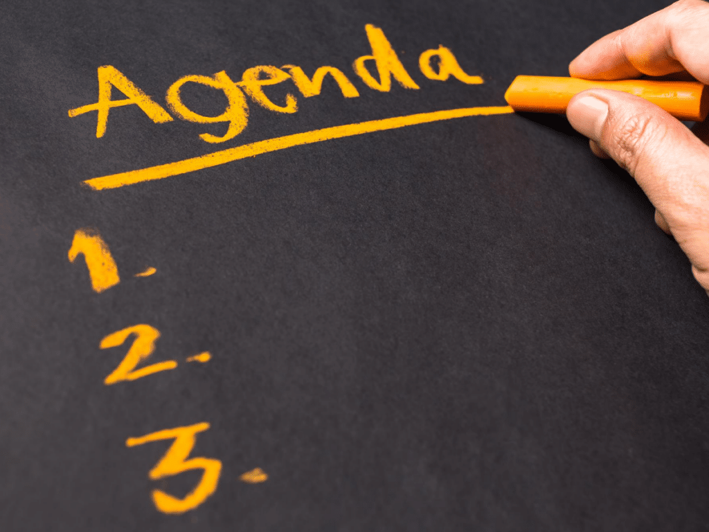Create an Agenda for Your Meeting
