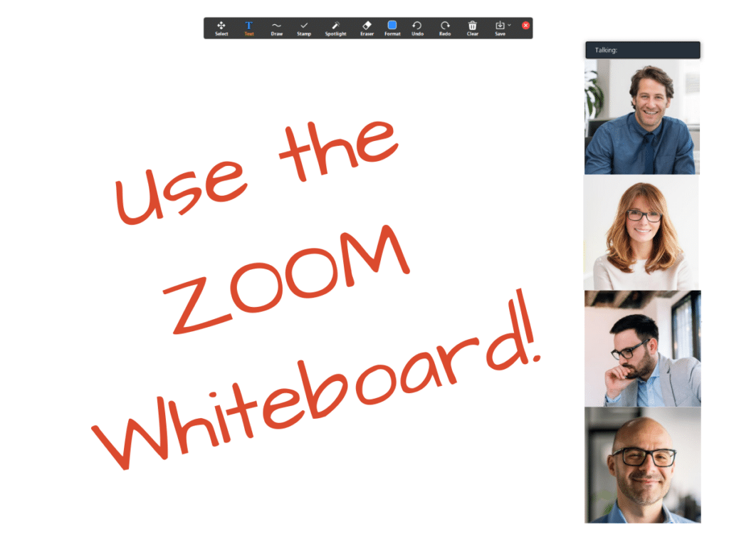Use Zoom Whiteboard App